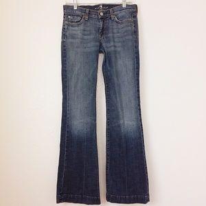 7 FAMK DOJO Jeans Flare Wide Leg Trouser